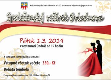 V pátek 1.3.2019 máme otevřeno pouze do 16. hodin z důvodu konání večírku obce Sviadnov .